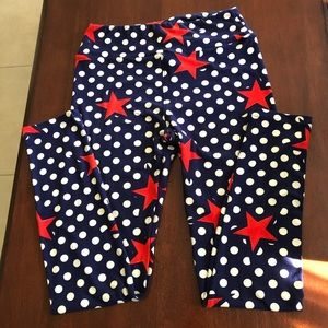 Awesome, patriotic LuLaRoe leggings